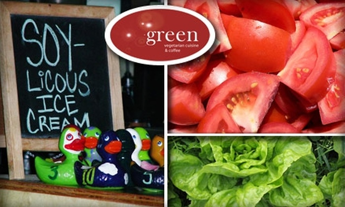 Green Vegetarian Cuisine - Five Points: $10 for $20 Worth of Fresh Fare at Green Vegetarian Cuisine