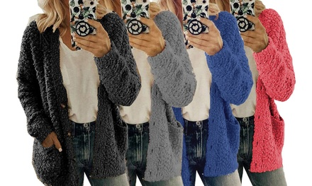 Women's Teddy Sherpa Cardigan: One ($24) or Two ($39)