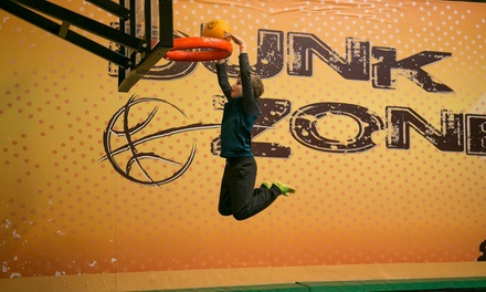 90-Minute Jump Pass for One, Two, Four, or Six or Basic Party at Rockin' Jump – San Carlos (Up to 50% Off)