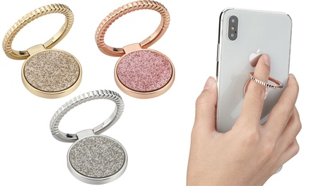 LAX Sparkle Phone Ring Stand with 360 Rotation and Phone Mount