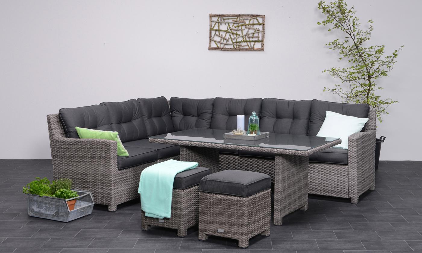 Garden Impressions Bluebird Five-Piece Rattan-Effect Corner Dining Sofa Set (£949.99)