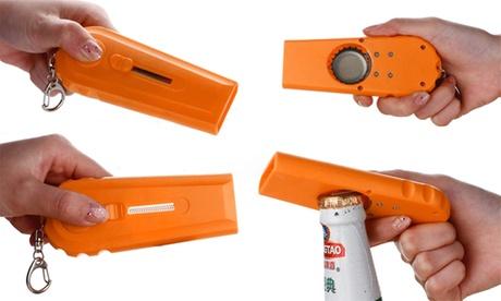 Abrebotellas en forma de pistola para disparar tapones