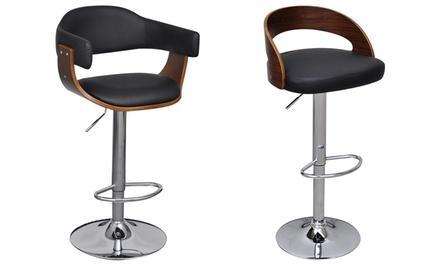 lot de 2 tabourets de bar groupon. Black Bedroom Furniture Sets. Home Design Ideas
