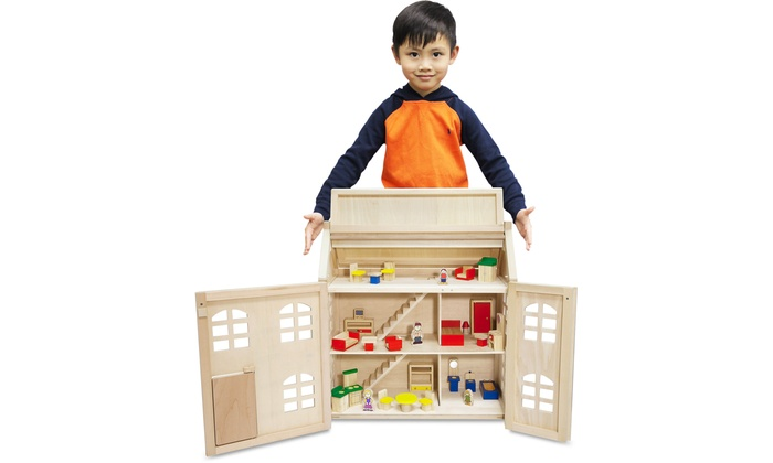 Toytopia Wooden Doll's House with Accessories for £19.99