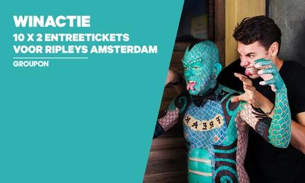 Winactie: 10x twee entreetickets voor Ripley's Believe It or Not Amsterdam, incl. 5Dcinema & popcorn