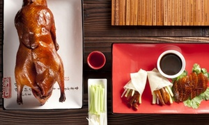 Zilver Restaurant: 5-Course Peking Duck Banquet with Bottle of Wine for Two ($69) at Award-Winning Zilver Restaurant, CBD ($140 Value)