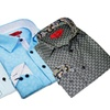 Elie Milano Italy Pattern Men's Dress Casual Shirt