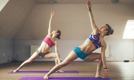 5 Barre-Fitness Classes or 1 Month of Unlimited Barre and Hot Yoga Classes at E Studio Hot Yoga (Up to 58% Off)