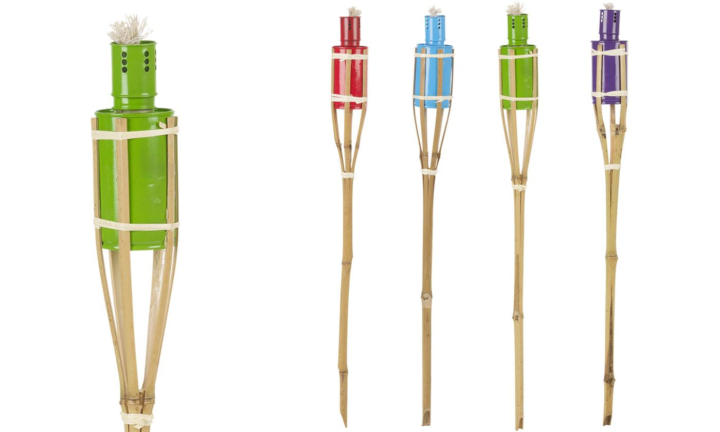 Three or Six Assorted Bamboo Oil Torches