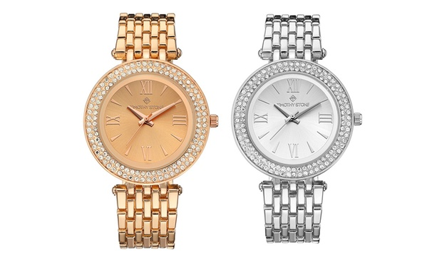 Timothy Stone Womens Watch with Crystals from Swarovski®: One ($29.95) or Two ($55) (Dont Pay up to $1,027.88)
