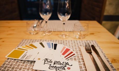 Menú para dos personas con entrante, 2 principales, postre y 2 bebidas por 26,90 € en Pide Por Esa Boquita Oferta en Groupon