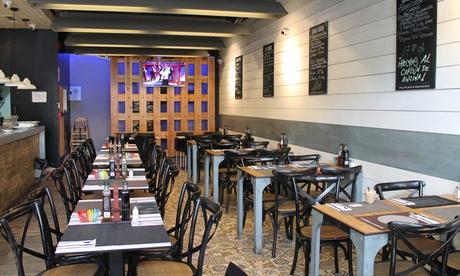 Menú para 2 o 4 personas con entrante, principal, postre y bebida desde 29,99 € en Pulpería brasería La Mar y Morena