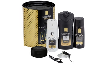Three for Two Lynx Gold Trio Shower and Speaker Sets