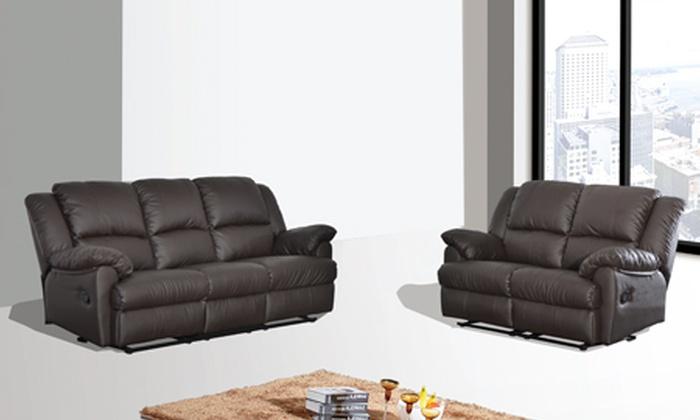 Reclining Sofa Set Groupon