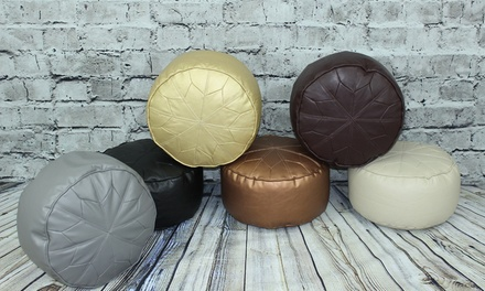 Moroccan-Style Beanbag Footstool