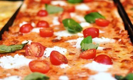 Teglia di pizza gourmet da asporto
