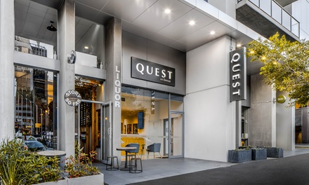 Melbourne: Two-Bedroom Apartment for Four with Late Check-Out, Welcome Drink, Wi-Fi and Parking at Quest on Dorcas