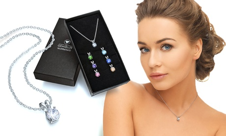 Conjunto de 7 collares intercambiables con cristales Swarovski®