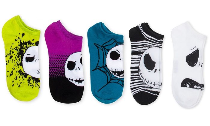 Men's Nightmare Before Christmas No-Show Socks (10-Pack)