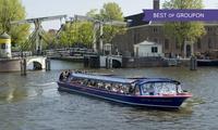 Amsterdam : Croisière AR de 75 minutes sur les canaux de la ville pour 1 à 4 personnes