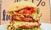 Wiesenlust - Frankfurt am Main: Hausgemachter Bio-Burger für 2 oder 4 Personen in der Wiesenlust (bis zu 39% sparen*)
