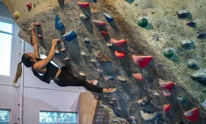 image for Indoor <strong>Rock <strong>Climbing</strong></strong> at Hangar 18 Indoor <strong>Climbing</strong> Gyms (Up to 59% Off)