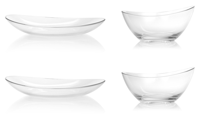 One, Two or Four Schott Zwiesel Lagoon Pure Plates, Bowls or Both