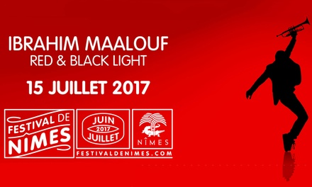 1 place assise en catégorie 2 ou 1 pour Ibrahim Maalouf, le samedi 15 juillet 2017 à 20h, dès 20 € aux Arènes de Nîmes