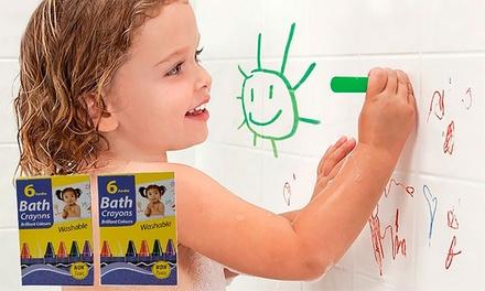 6 Kinder-Farbstifte für die Badewanne