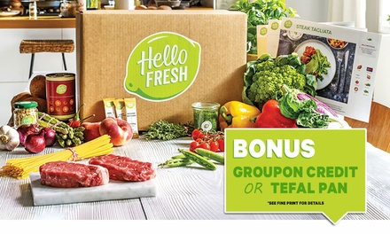 HelloFresh: Weekly Delivered Meal Plans from $39.99 + BONUS Groupon Credit - New Customers Only