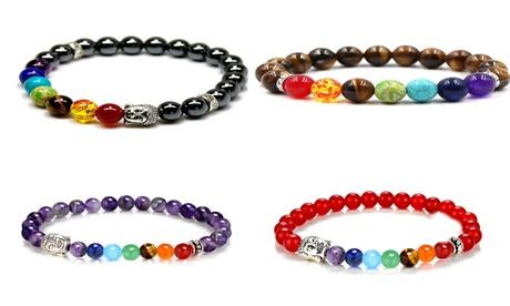 Hasta 4 pulseras chakra con piedras naturales