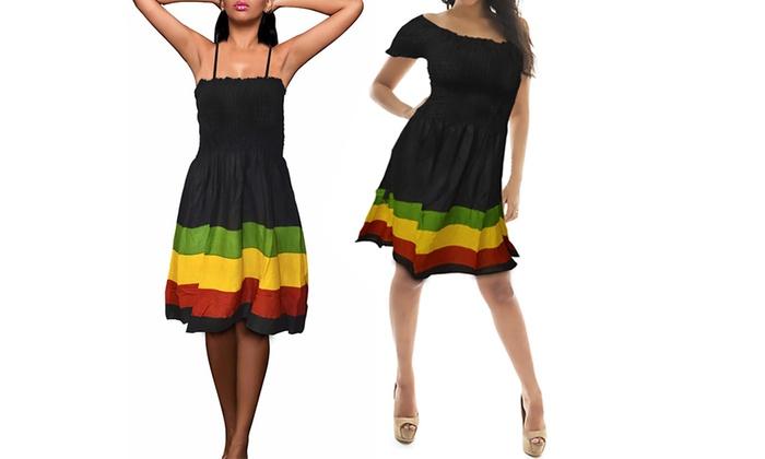 Women\'s Rasta-Style Dress. Plus Sizes Available.   Groupon