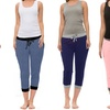 Coco Limon Women's Capri Jogger Pants (4-Pack)
