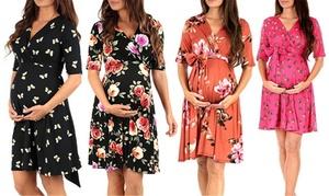 Robe de grossesse avec imprimés