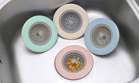 Sparangebote: 2x, 4x oder 6x Silikon Abflusssieb in trendigen Pastelltönen mit 11 cm Durchmesser, ideal zum Auffangen von Schmutz