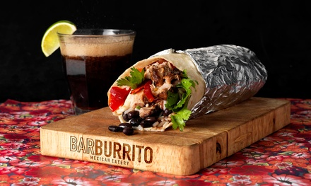 Regular Burrito and Tortilla Chips with Drink or Beer and Dip for One or Two at Barburrito