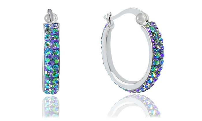 Up To 56% Off on Swarovski Crystals Hoop Earrings  de7fd258430e