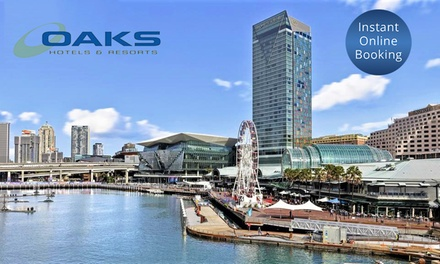 Darling Harbour, Sydney: 1 or 2Night CBD Stay for Two or Four People with Brekky at 4.5* Oaks Goldsbrough Apartments