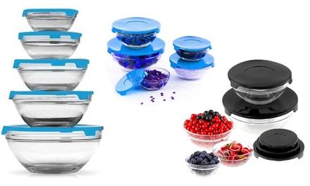 Fino a 15 contenitori in vetro con coperchio adatti al microonde