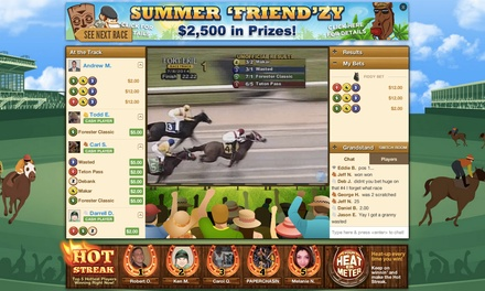 $5 for $30 Worth of Wagering Credit to Bet on Horse Races at DerbyJackpot