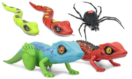 One or Two Tobar Robo Alive Animal Toys: Spider, Snake or Lizard