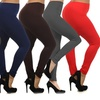 Women's Plus Size Fleece Lined Leggings (6-Pack)