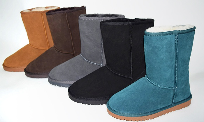 Can Imagine INC - Multiple Locations: Dream Living Women's Twinface and Suede Short Boots at Can Imagine INC