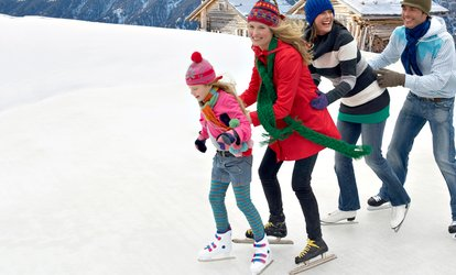 image for <strong><strong>ICE</strong> Skating</strong> with Skate Rentals for 2, 4, or 10 at <strong>ICE</strong> at The Parks in Arlington (Up to 59% Off)