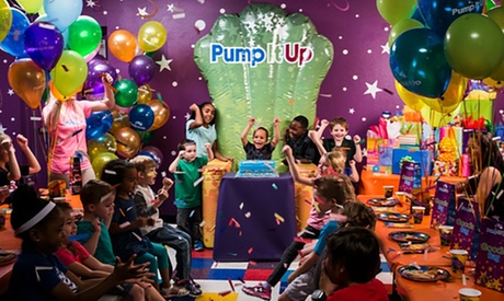 Open Jump Pass for One or Ultimate Two-Hour Party for Up to 10 Kids at Pump It Up (Up to 50% Off)