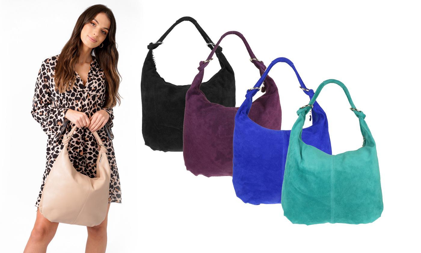 Girly Handbags Cora Suede Hobo Bag