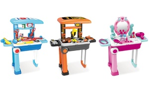 Lil' Luggage Builder, Chef, Vanity, or Doctor Playset