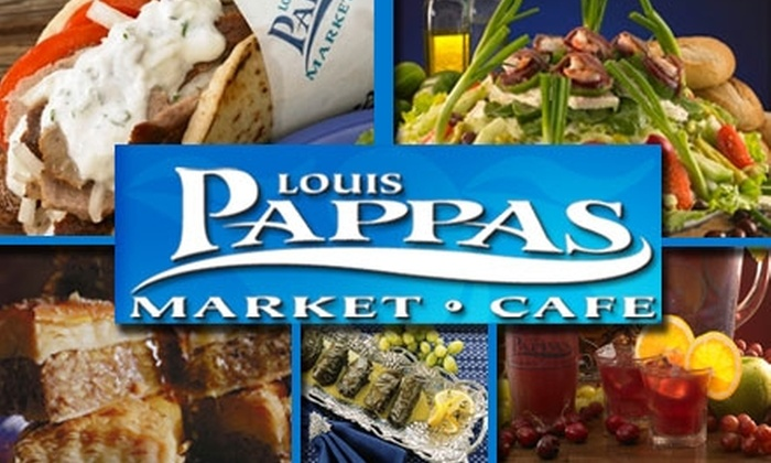 Louis Pappas - Citrus Park Community: $5 for $10 Worth of Greek Cuisine at Louis Pappas Market Cafe. Buy Here for the Tampa Location on Gunn Highway. See Below for Additional Locations.
