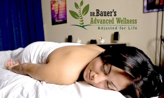Dr. Bauer's Advanced Wellness - Old Town: $45 for a One-Hour Therapeutic Massage, Plus a Chiropractic Exam, Adjustment and X-Rays If Needed from Dr. Bauer's Advanced Wellness (Up to $306 Value)