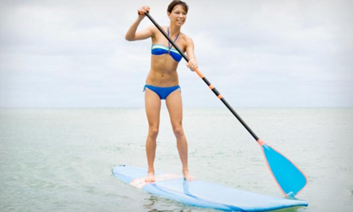 Lakeshore Kayak Rental - Grand Haven: Standup-Paddleboard Rental for One, Two, or Four at Lakeshore Kayak Rental in Grand Haven (Up to 56% Off)